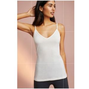 Anthropologie Avery Layering Tank Top NWT Ivory M